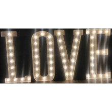 Love Bulb Letter Sign for Any Color LED