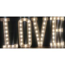 Amor signo de carta de bombilla para cualquier Color LED