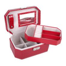 Boîte de rangement cadeau pour bijoux en cuir de luxe avec serrure