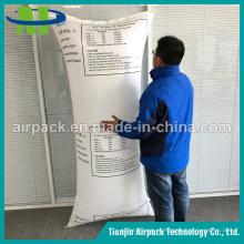 Saco tecido PP tecido branco do amortecedor dos PP do saco do Airbag do Dunnage