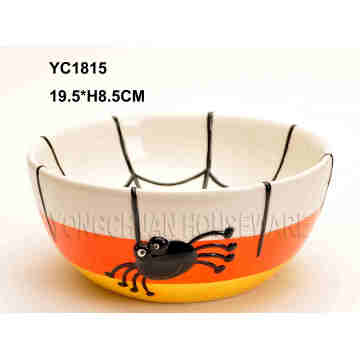 Hand-Painted Ceramic Soup Bowl