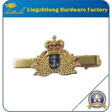 Barre de cravate de couronne d'émail moleté faite sur commande
