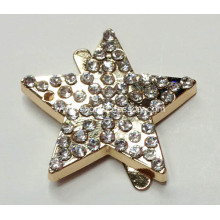Star Metal Buckle with Rhinestone for Hats, Handbags, Shoes Ornaments