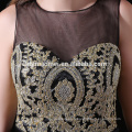 Hot vente courte conception mariage brides robe de demoiselle couleur noire genou longueur robe de demoiselle d'honneur en gros avec doux décolleté entendre