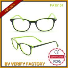 Großhandel-Acetat Frame Brille grün Frames (FA15101)