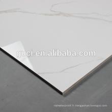 dalles de sol en marbre poli blanc avec carreaux 60x60