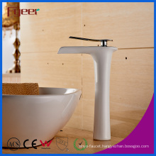 Fyeer Manufacturer White Paint Waterfall Brass Vessel Faucet