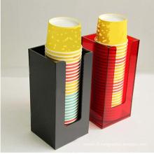 Porte-gobelets acrylique personnalisé en plexiglas