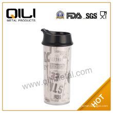 450ml plastic travel mug with photo insert