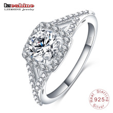Forever Love 925 Sterling Silver Engagement Ring (SRI0017-B)