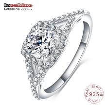 Para sempre amor 925 anel de noivado de prata esterlina (sri0017-b)