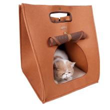 3 em 1 portador de gato portátil funcional feltro gato caverna janela gato cama