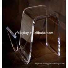 Table matérielle incurvée acrylique pour le lieu