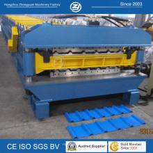 Teja acanalada galvanizada automática hidráulica que dobla la capa que forma la máquina