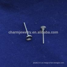 BXG041 joyería de acero inoxidable ronda almohadilla post pendiente encontrar