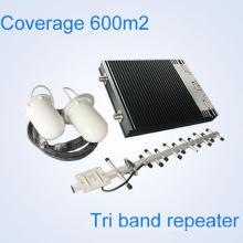 Tri Band señal de teléfono móvil Repetidor Booster