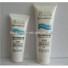Flip top cap LDPE tubo de embalagem de cosméticos