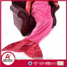 Förderung Super Soft Winter Mermaid Tail Blanket Pailletten Schwanz