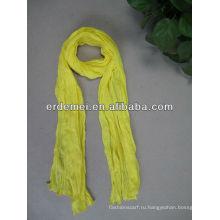 Один цвет хлопок люрекс шарф женщин