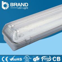 Plastic 2x18W T8 IP65 Tri-proof Pure White LED Light Fixture 4000K Double T8 For Gas Station