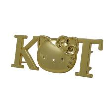 Gold Kt Cat Handbag Metal Tag