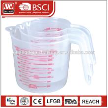 No atacado melhor qualidade 500ML plástico personalizado copos de medição
