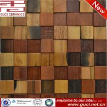 telha de mosaico moderna nova da decoração da parede da parede do barroom da telha de madeira misturada