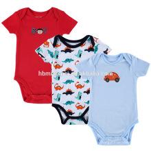 100% organische super passende Overknee Overalls rote blaue Farbe Cartoon weichen Baby Baumwolle Strampler