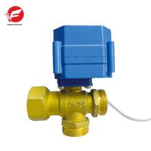 Água motorizada de 3 vias apaga a válvula automática de ventilação