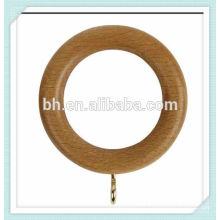 35mm anéis de cortina de madeira com ilhó