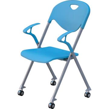 Cadeira empilhável de novo produto com roda e braço (YCD-55)