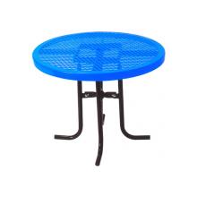 Table à thé acier carbone tôle perforée décorative