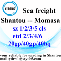 Shantou to Momasa ocean shipping timetale