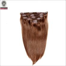 Silk Straight Natural Long 20inch Remy Human Virgin Hair Extension Clip Hair