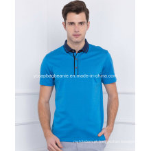 Camisas à moda dos homens do polo do algodão de Europa 100%