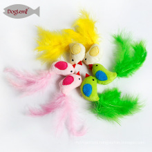 Catnip Cat Toys Bird Feather Pet Kitten Play Toy 3 colors mix