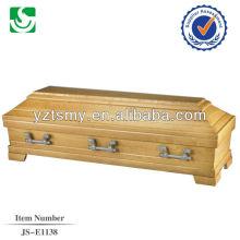 hot sale solid pecan coffin box