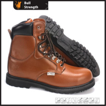 Industrial Geniune Leather Safety Boots with Rubber Sole (SN5393)
