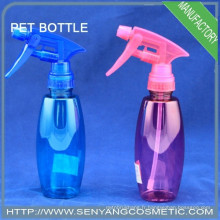Bouteille d'eau bouteille en PET bleu de 200 ml avec pompe à pulvérisation