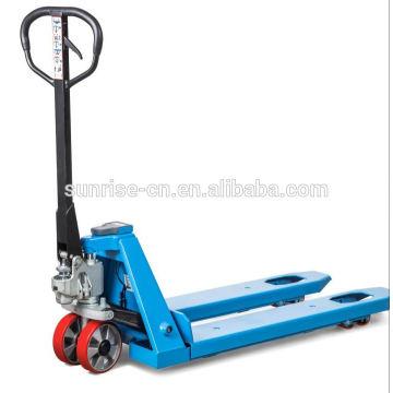 industria utilizada 685mm ancho de horquilla 3000 kg transpaleta manual hidráulica con escalas