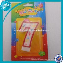 Huaming Vela de cumpleaños numeral colorido al por mayor / Velas de la torta de la letra