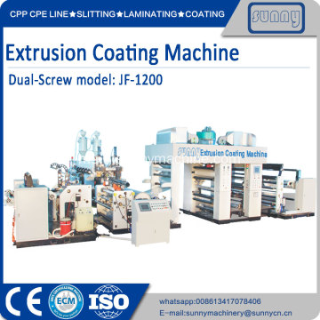 Single T DIE PE plastik filem extruder mesin