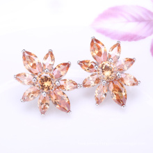 hip hop shinning earrings indian clip on earrings cz stud earrings