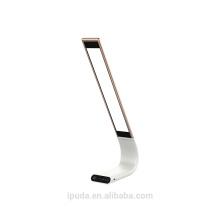 Горячий продукт алюминиевый светильник завод Цена классический Белый ткань тень настольная лампа