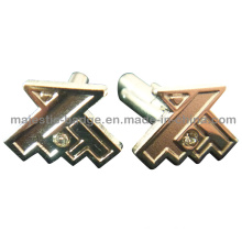 Nickle Plated Customized Cufflink Hz 1001 F007