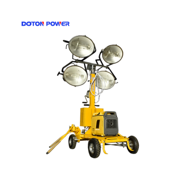 Torre de iluminação móvel com lâmpada de haleto de metal 4X1000W