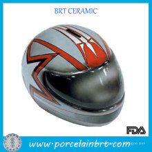 Motorcycle Helmets Ceramic Large Piggy Bank