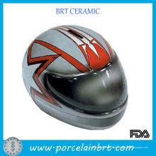 Capacete de moto grande banco Piggy de cerâmica