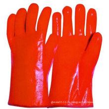 Гладкая поверхность пены вкладышем PVC перчатка работы зимы