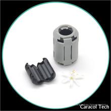 Grampos de cabo magnéticos personalizados Ferritr Core para cabo de alimentação de 3,5 mm